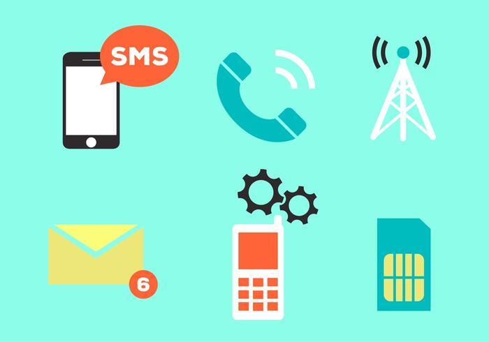 Vektor ikoner uppsättning kommunikation