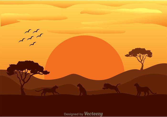 Vektor Tiger In Afrika