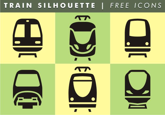 Train Silhouette Kostenlose Icons vektor