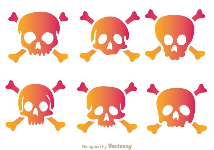 Crossbone skull vektor ikoner
