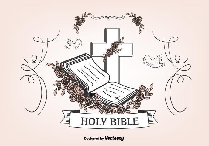 Öppna Bibeln Bakgrund vektor