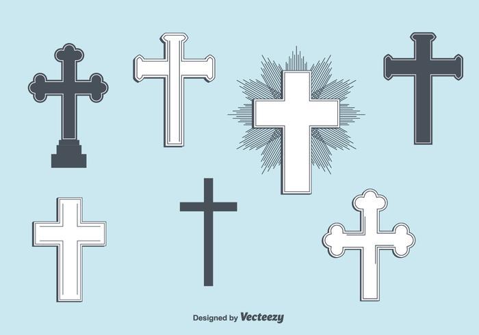 Set med Vector Crosses