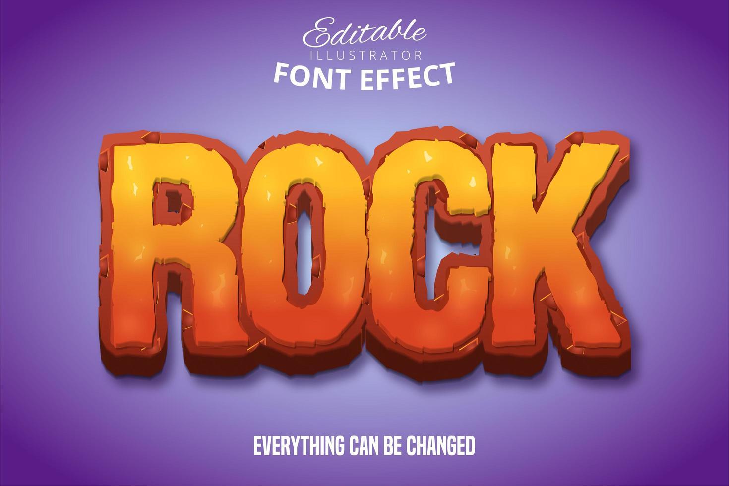 färgglad rock text effekt vektor