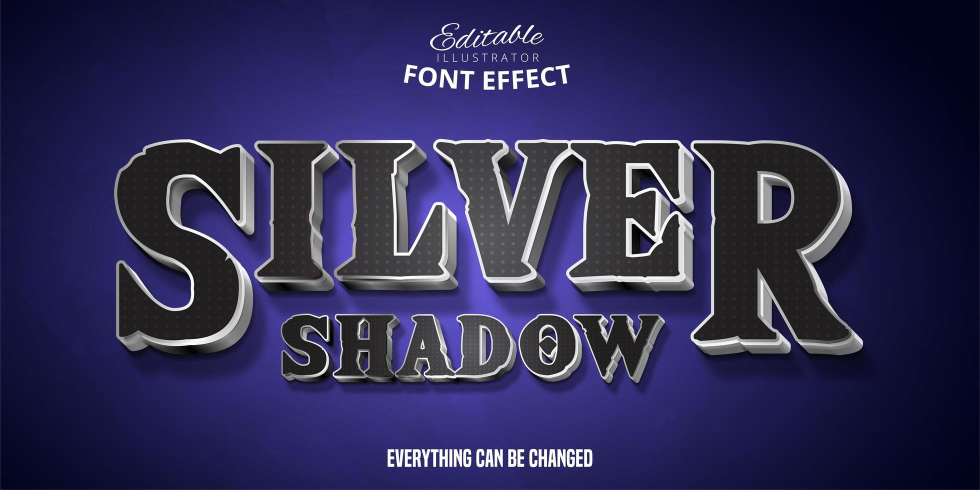 silver skugga text effekt vektor