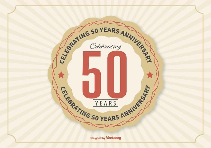 50-årsjubileumsillustrationen vektor