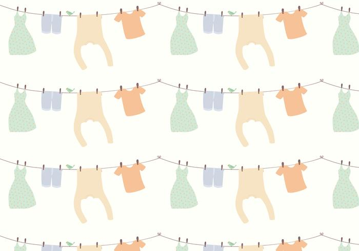 Kleidermuster Hintergrund vektor