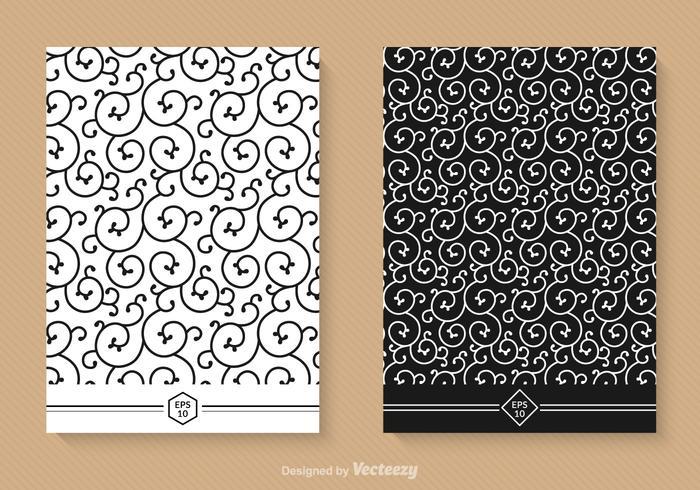 Free Swirly Nahtlose Vektor Patterns