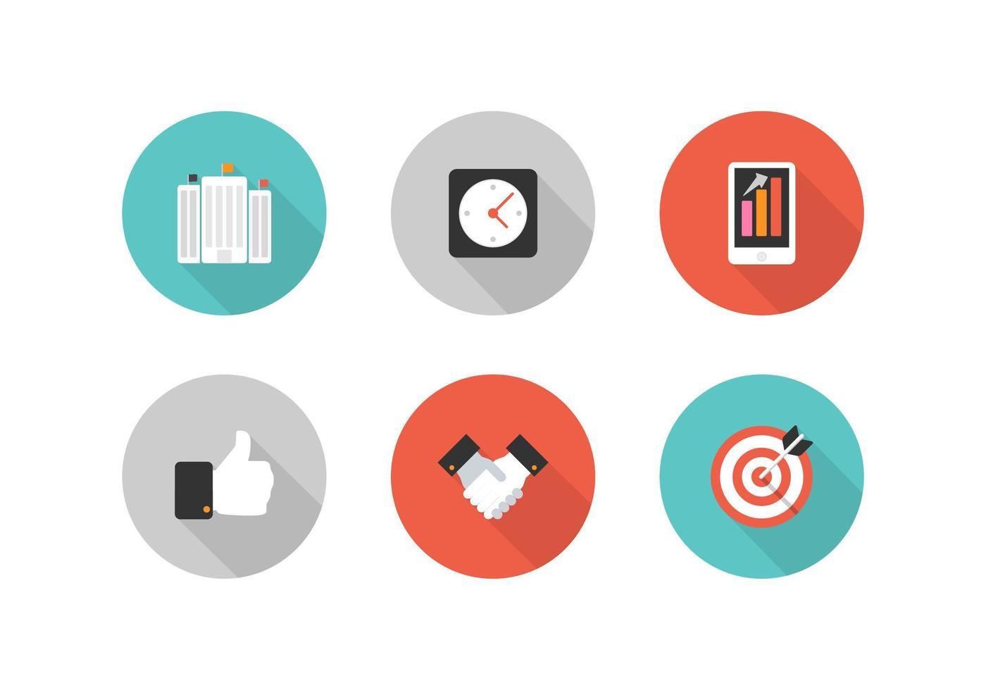 Kostenlose Retro Business Vector Icons