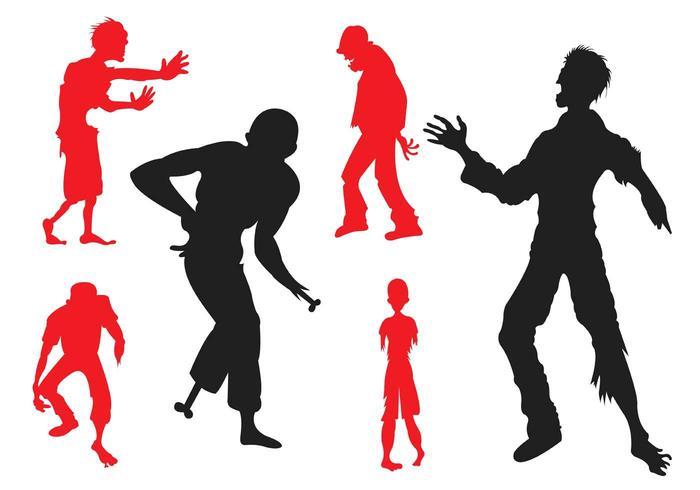 Vector Silhouette von Zombies