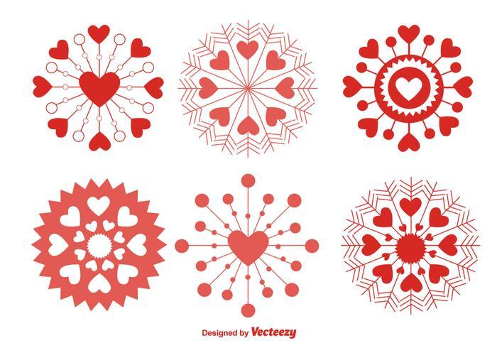 Älska Snowflakes vektor