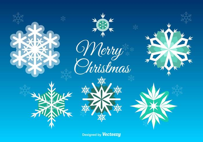Jul Snowflakes Decoration vektor