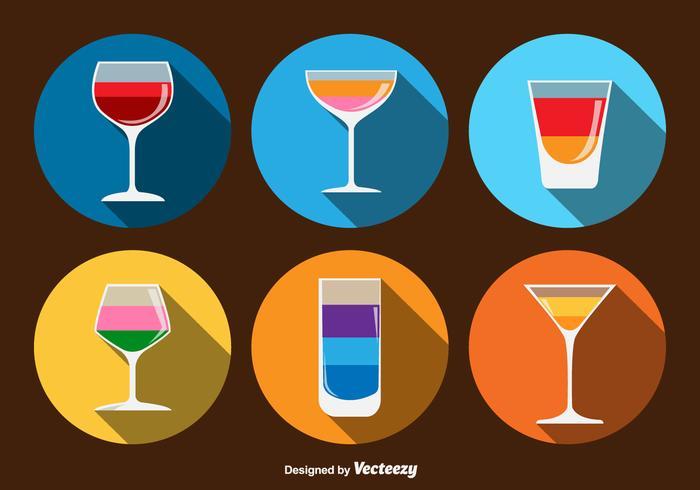 Drinkar ikoner för cocktails vektor