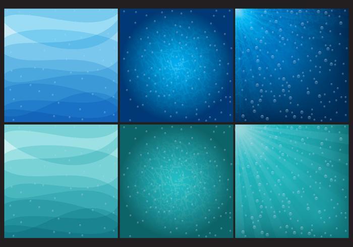 Blaue und grüne Wasser Hintergründe vektor