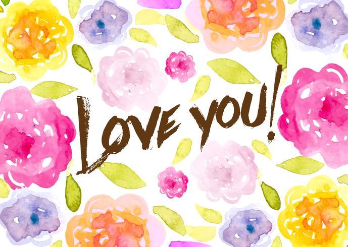 Romantische Aquarell Blumen Hintergrund vektor