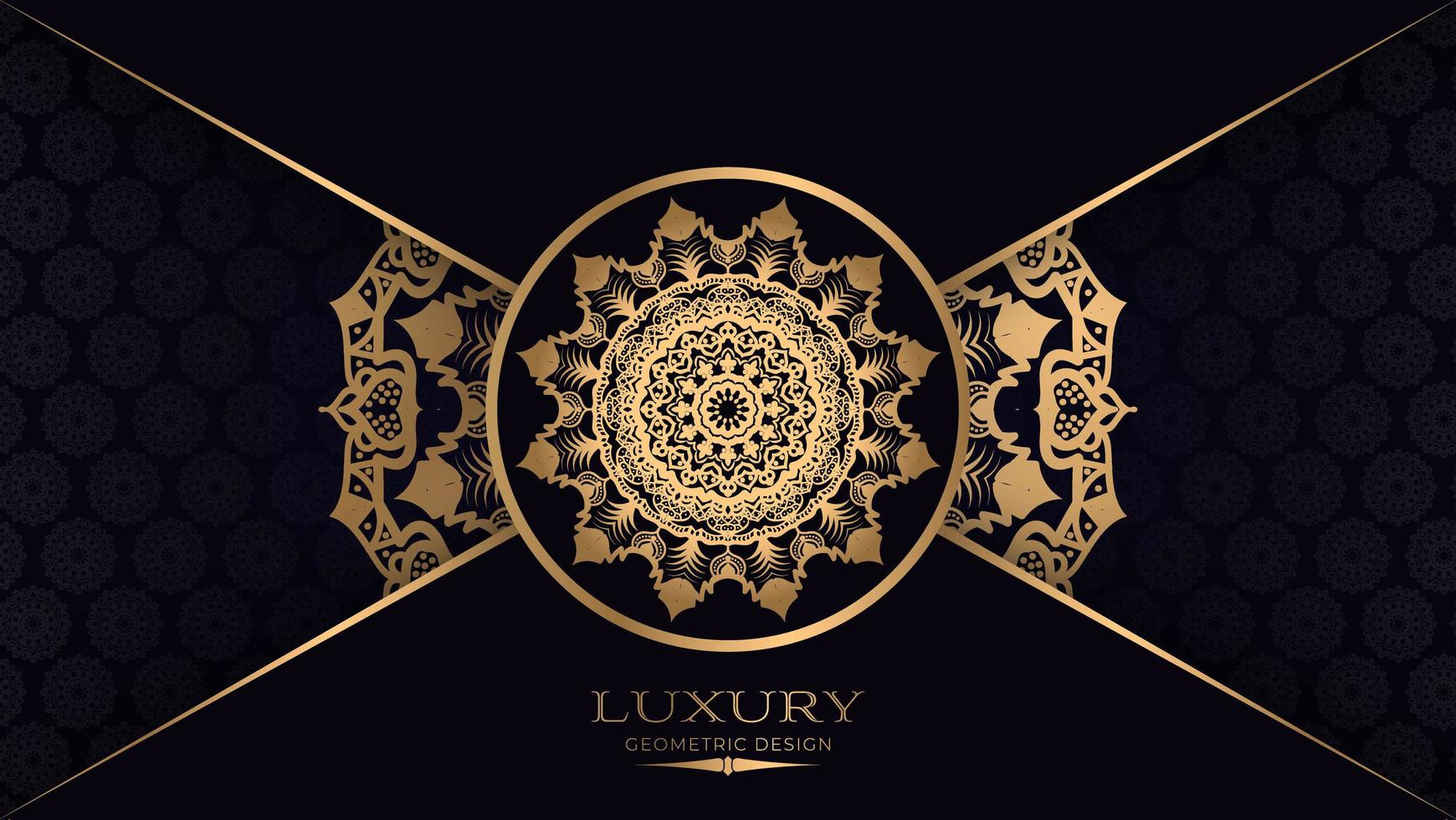 goldenes Luxus-Mandala gefaltetes Papierdesign vektor
