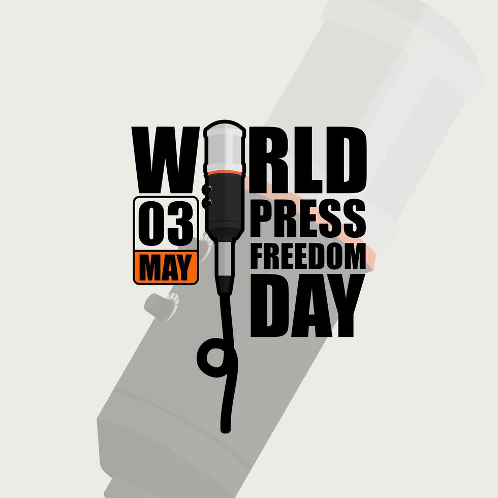 världspressfrihetsdag typografiska affisch vektor