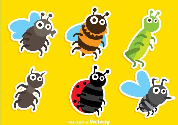 Cartoon Insekten Vektoren