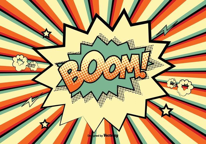 Komisk stil boom! illustration vektor
