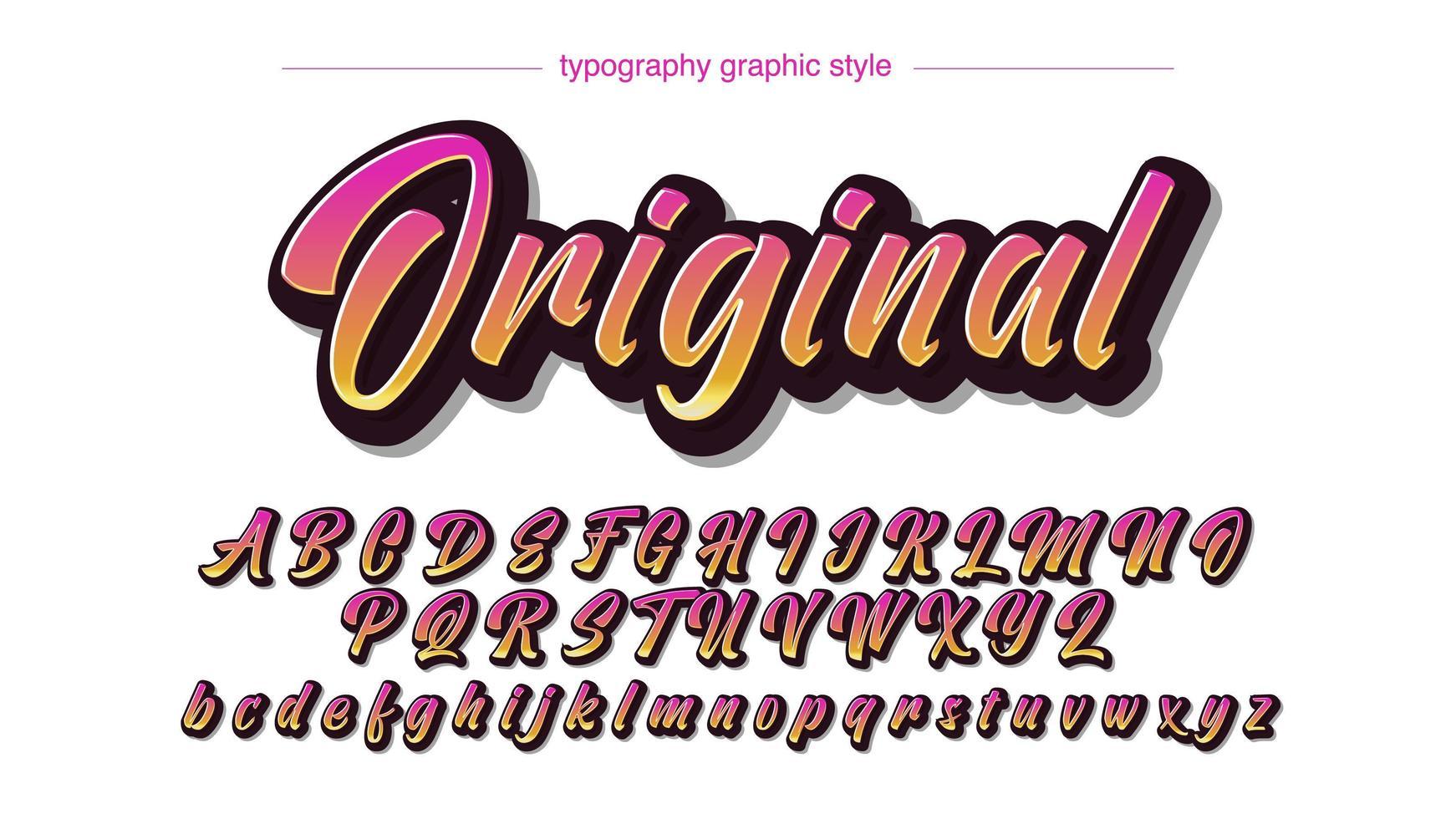 moderna färgglada sommar kalligrafi typsnitt vektor