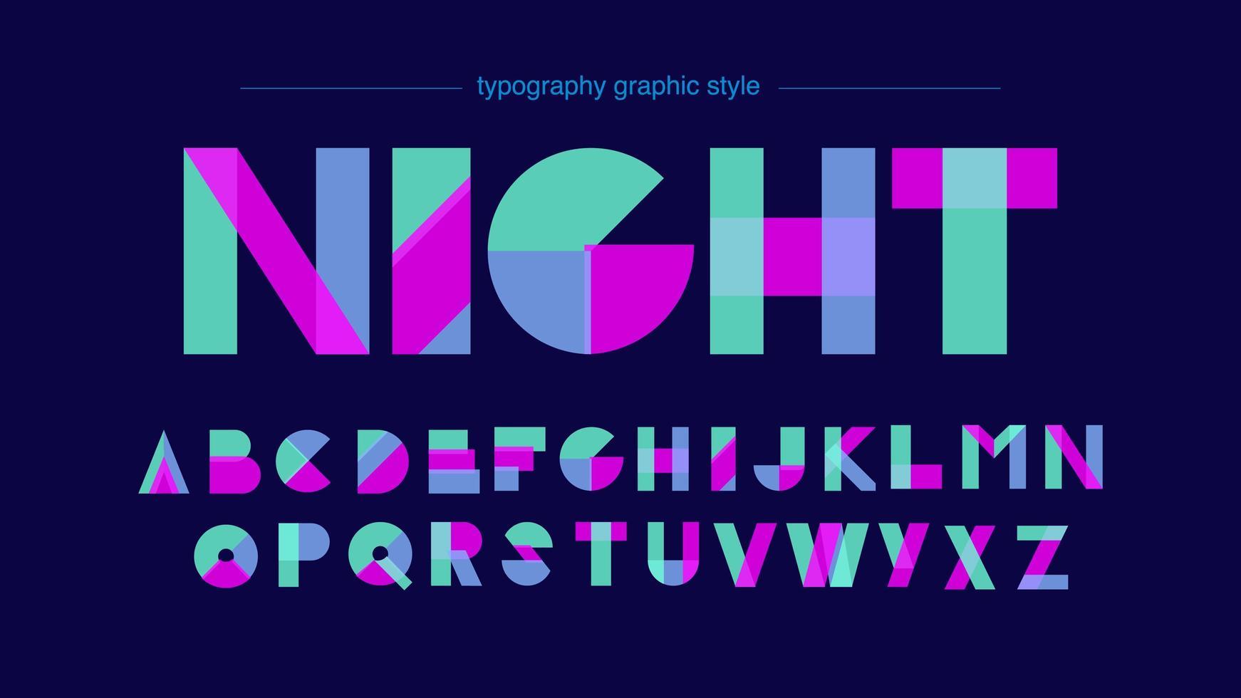 abstrakt neonformar alfabetet vektor