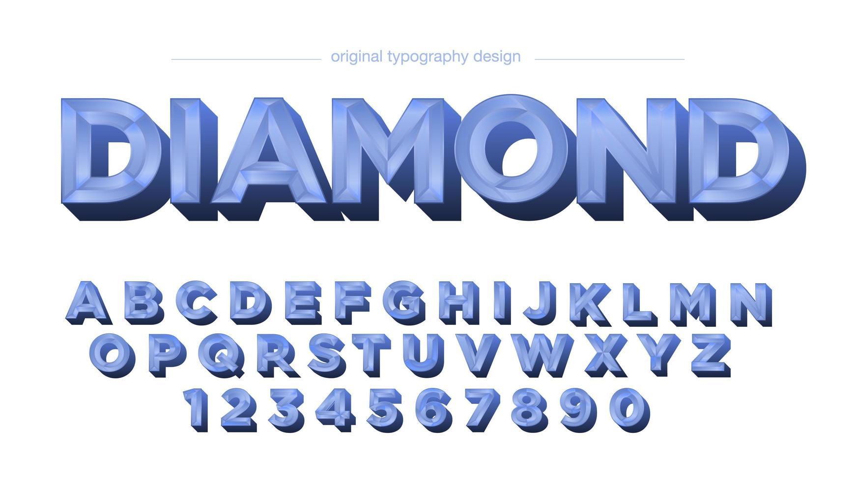 blå diamantkakel krom vintage alfabetet vektor