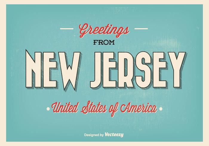 Grüße aus New Jersey Illustration vektor