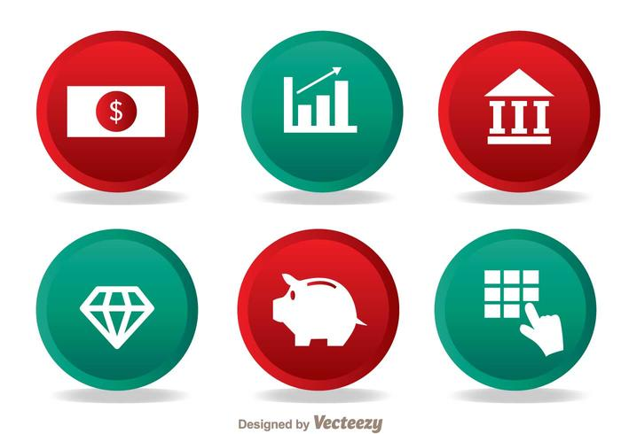 Bank Einfache Icons vektor