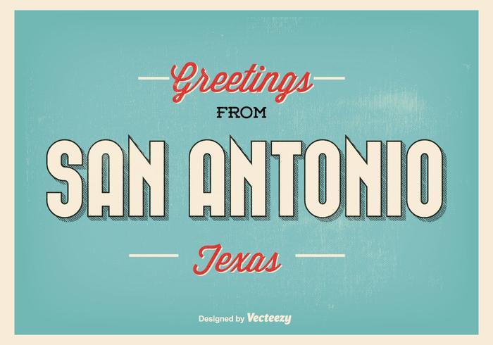 San Antonio Texas Gruß Illustration vektor