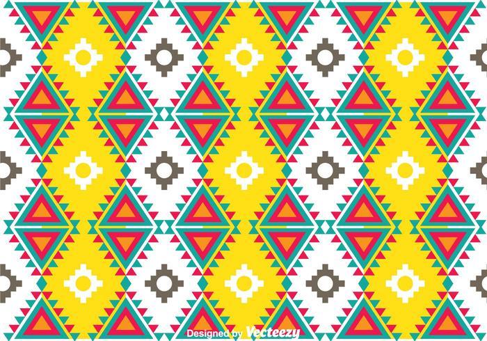 Färgglatt Aztec Mönster vektor
