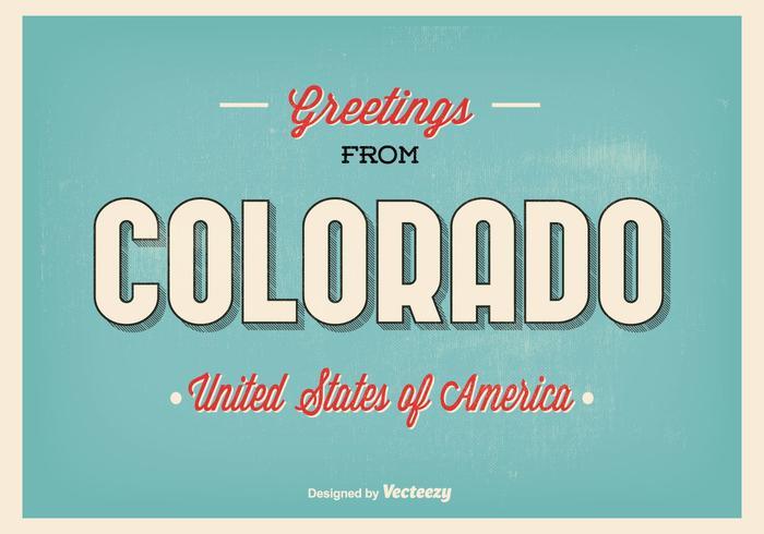 Colorado Grüße Illustration vektor