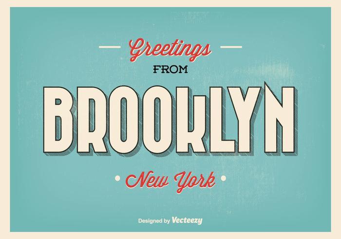 Brooklyn New York Gruß Illustration vektor