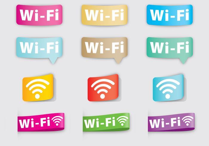 Wi-Fi-Etiketten vektor
