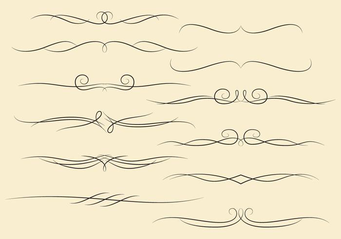 Swirly Grenzen vektor