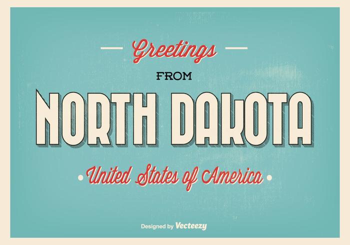 Typografische North Dakota Gruß Illustration vektor