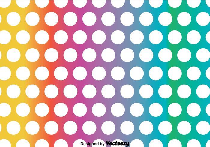 Regnbåge polka dot mönster vektor