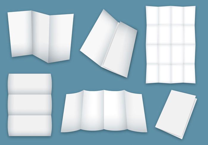 Blank Folded Broschure Vektoren