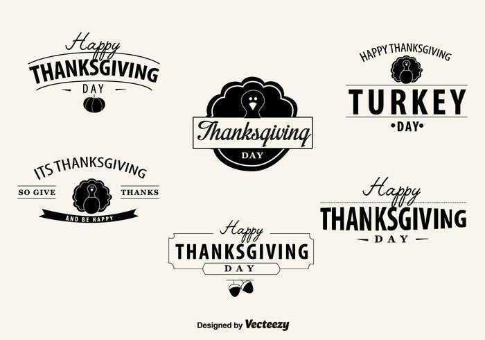 Thanksgiving Day Abzeichen vektor