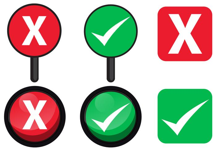 Ja oder No Sign Vectors