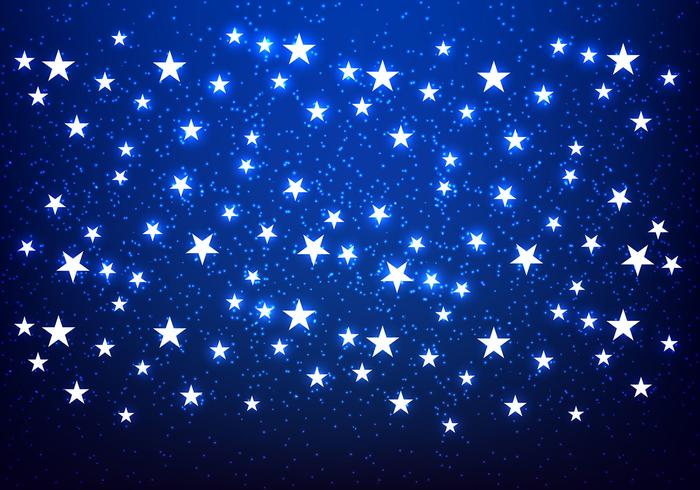 Glänzende Sterne Blauer Hintergrund Vektor