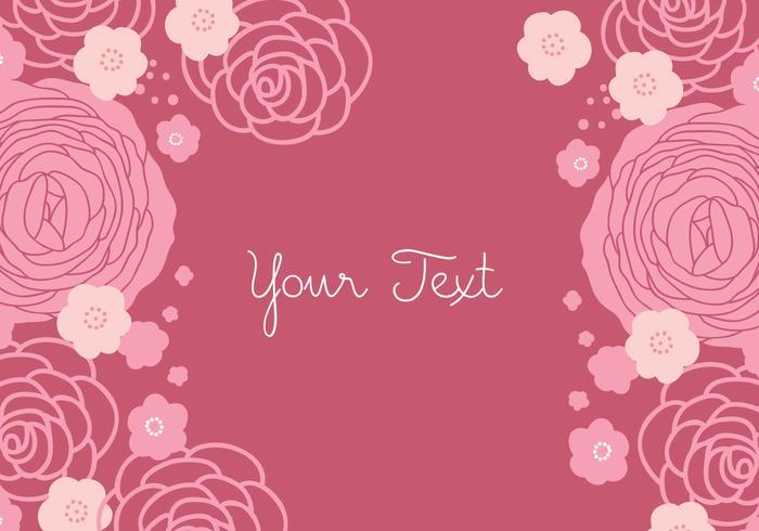 Floral Rose bakgrundsdesign vektor