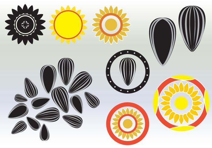 Solrosfrövektorer vektor