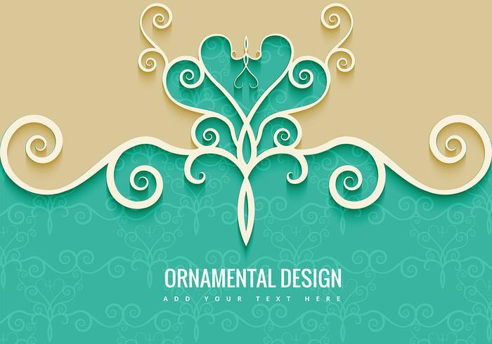 Dekorativ dekorativ bakgrund vektor
