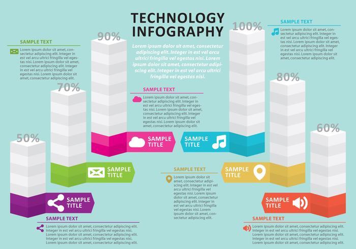Tech Infografie vektor