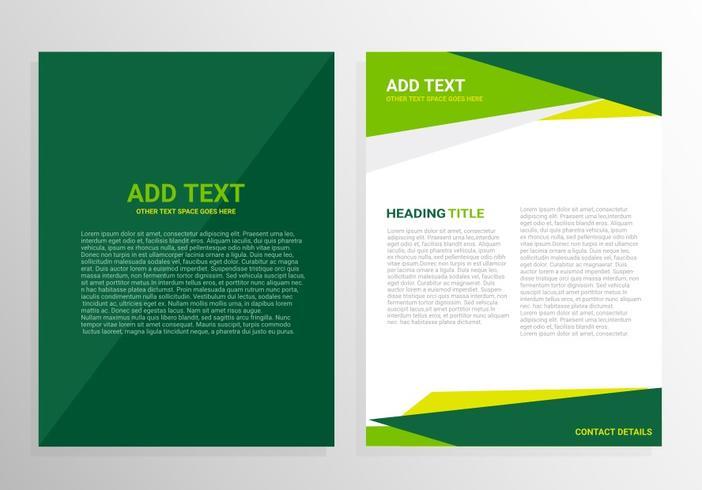 Grön broschyrmalldesign vektor