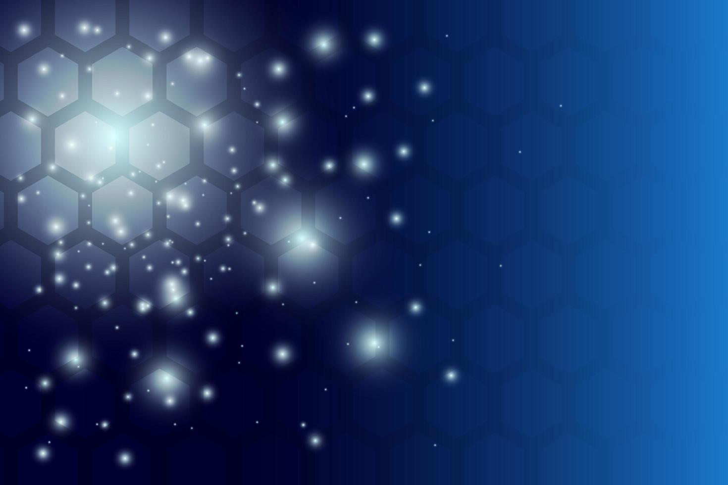 blå glödande hexagon mönster vektor