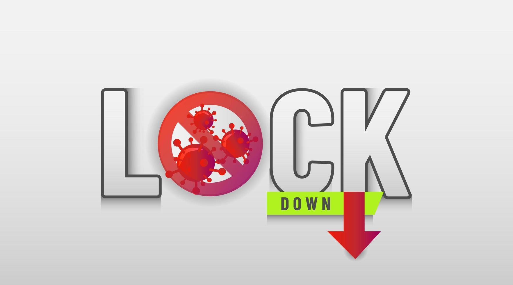coronavirus bakgrund för att beskriva om lockdown vektor