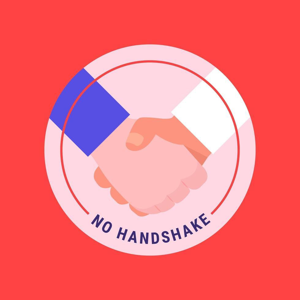 kein Handshake-Symbol-Konzept vektor