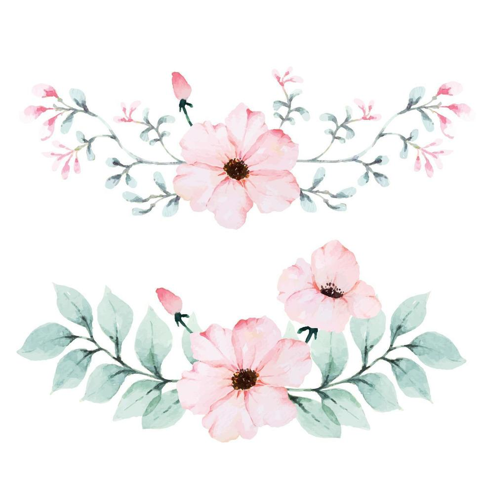 bukett med vintage kronblad av vallmo vektor