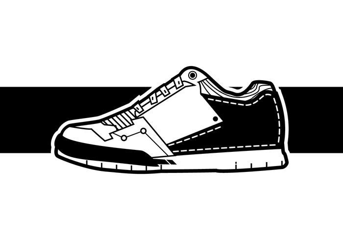 Coola män sneakers vektor