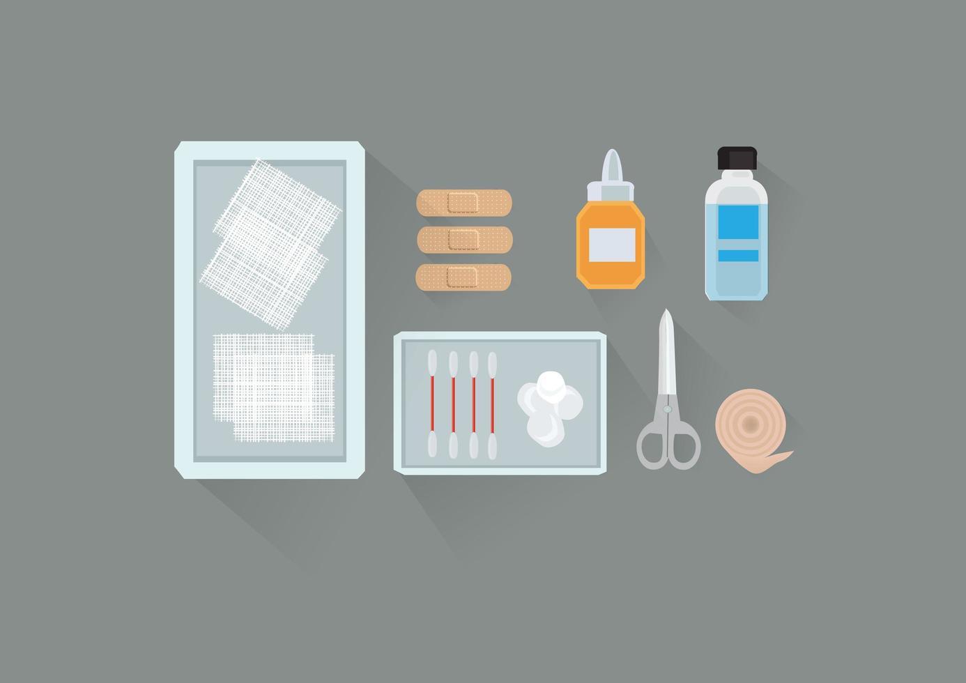medicinska verktyg vård set vektor